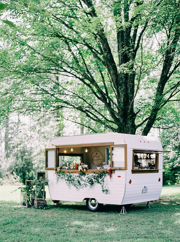 Vintage Caravan Wedding Bar