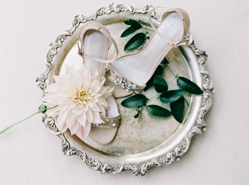 Blush Bridal Sandals
