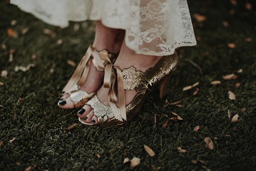 Rose Gold Bridal Shoes