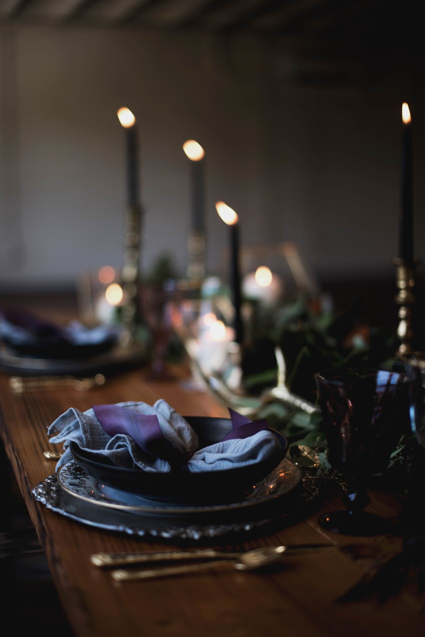 Gothic Plum Wedding Table