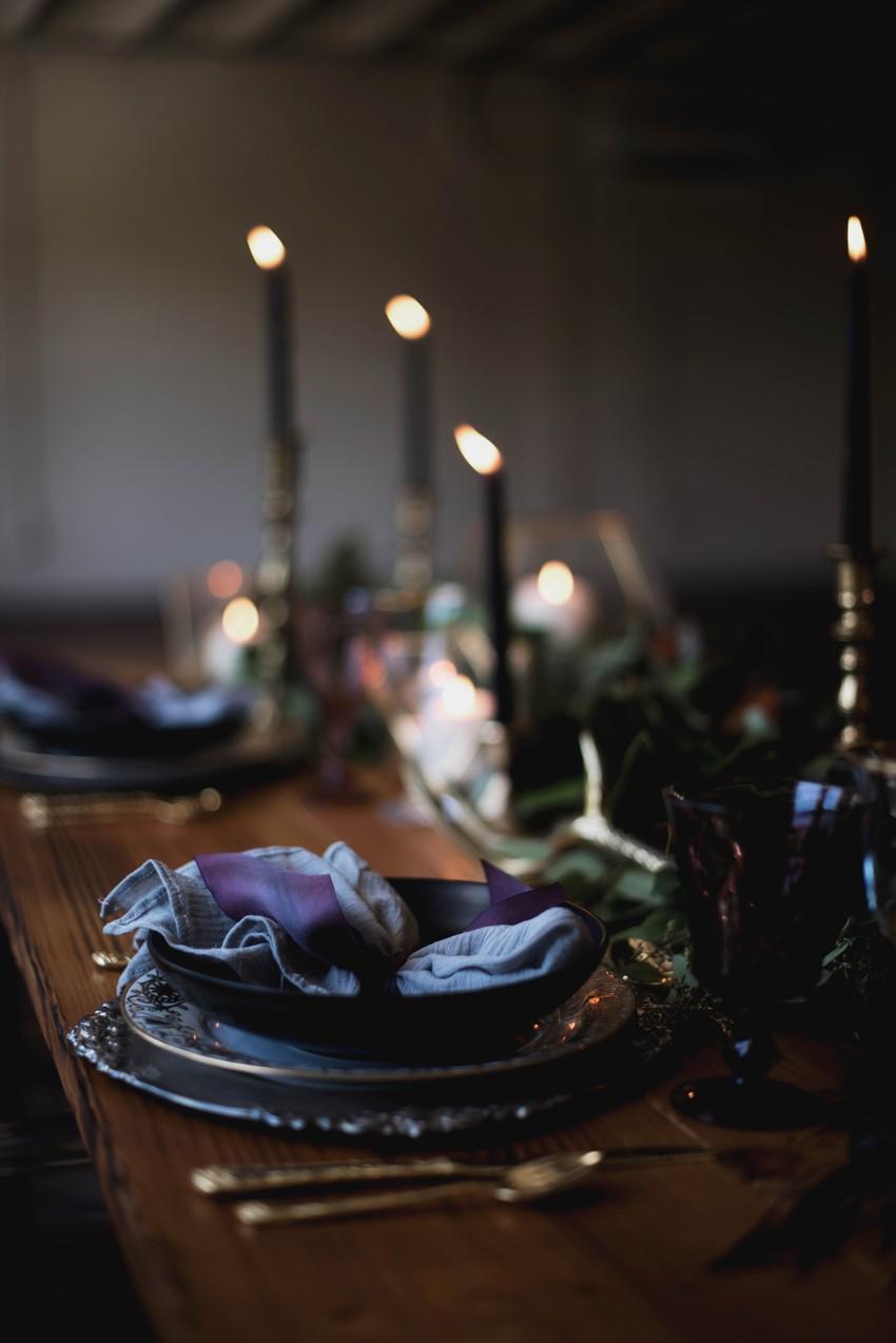 Gothic Plum Wedding Table