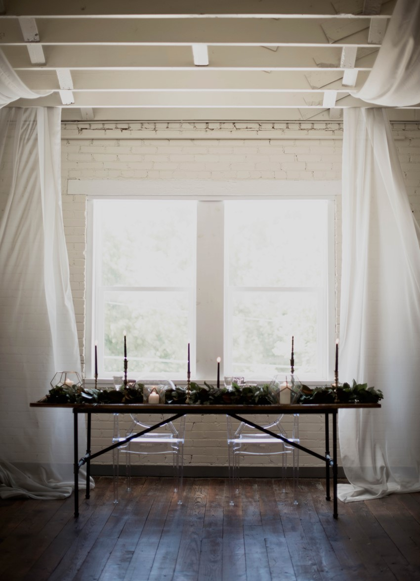 Modern Gothic Wedding Table