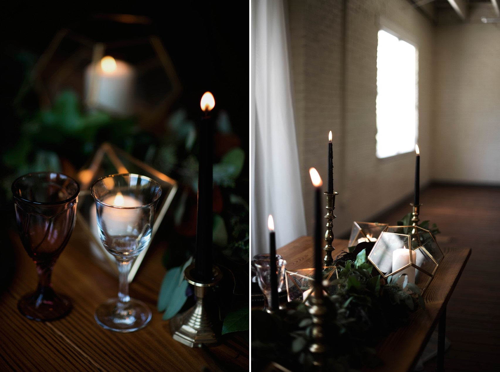 Dark & Moody Wedding Table