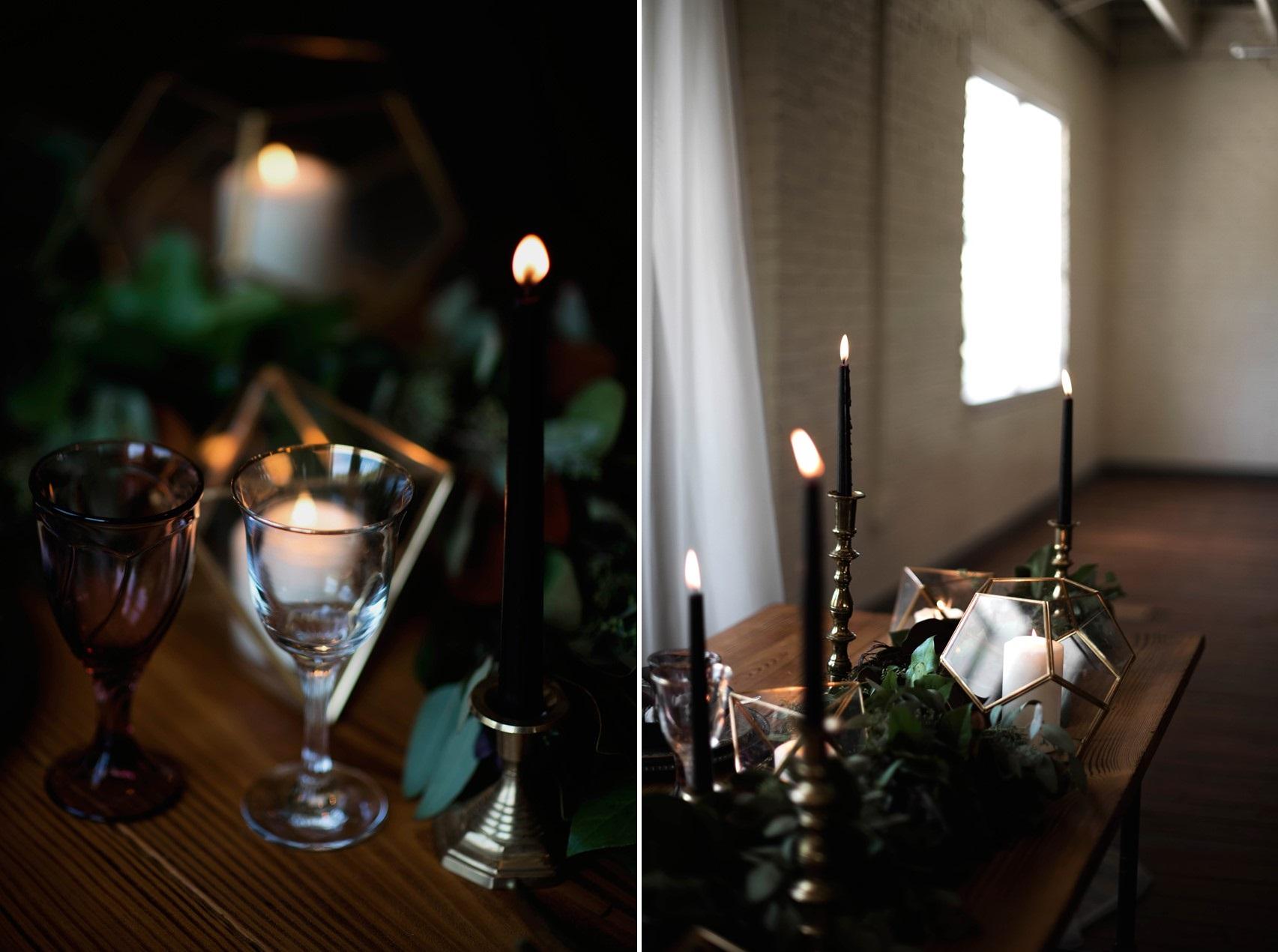 Dark & Moody Wedding Table