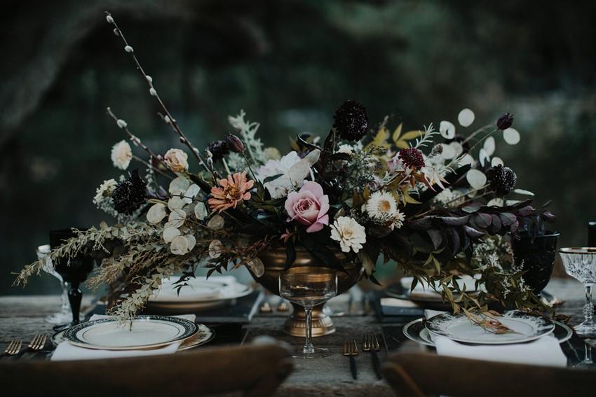 Fall Floral Wedding Centerpiece