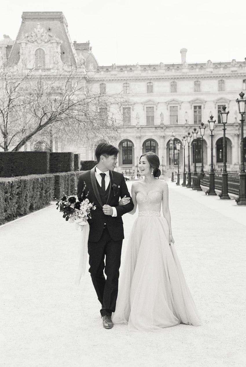 Black & White Paris Wedding Photos