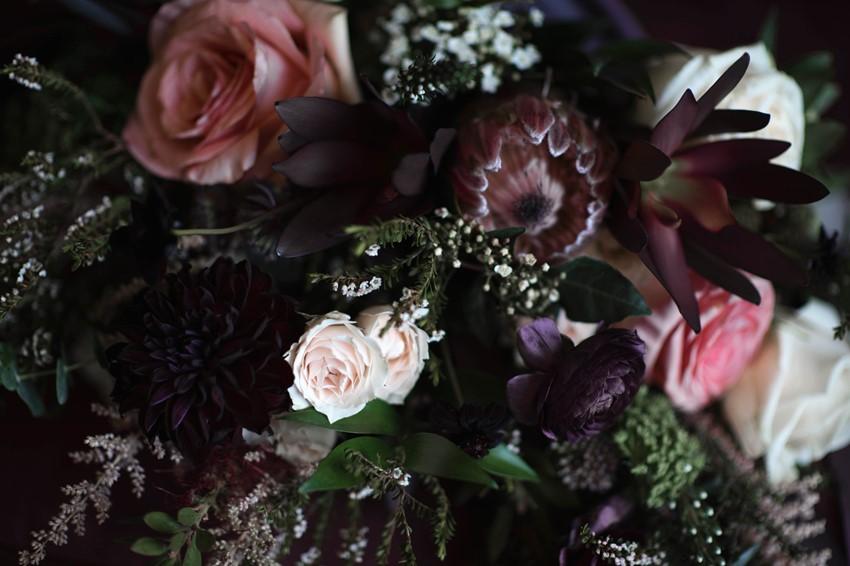 Dark & Moody Bridal Bouquet