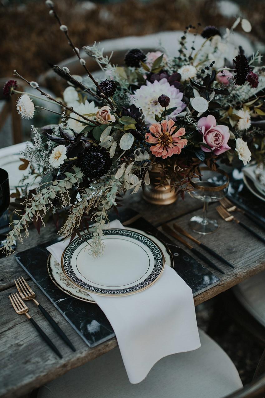 Halloween Wedding Place Setting