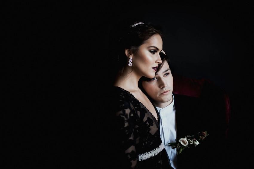 Romantic Gothic Halloween Wedding Inspiration