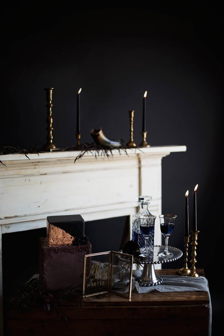 Gothic Wedding Dessert Table