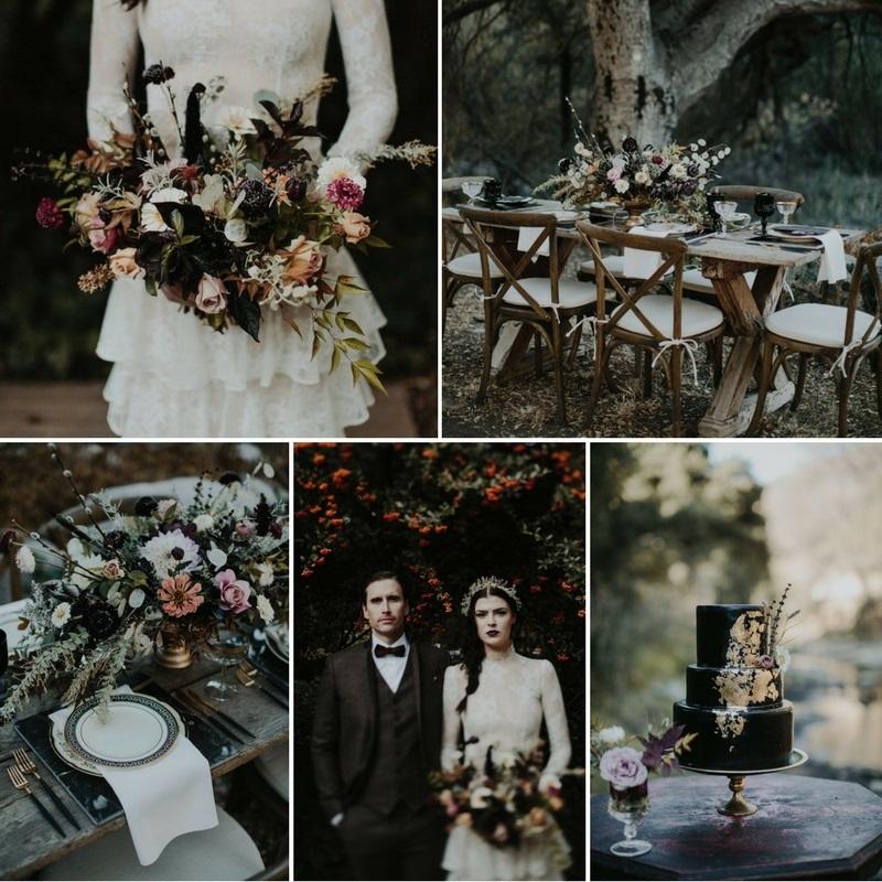 Vintage American Gothic Halloween Wedding Inspiration