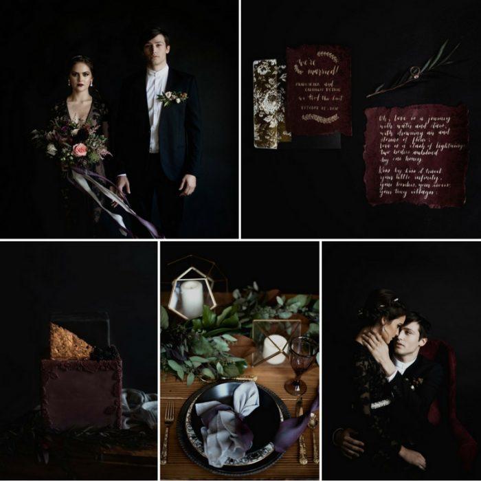 'Dark Romance' - Stunning Halloween Wedding Inspiration