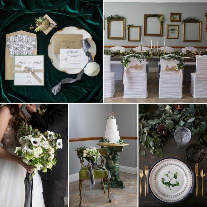 Glamorous Greenery & Gold Wedding Inspiration