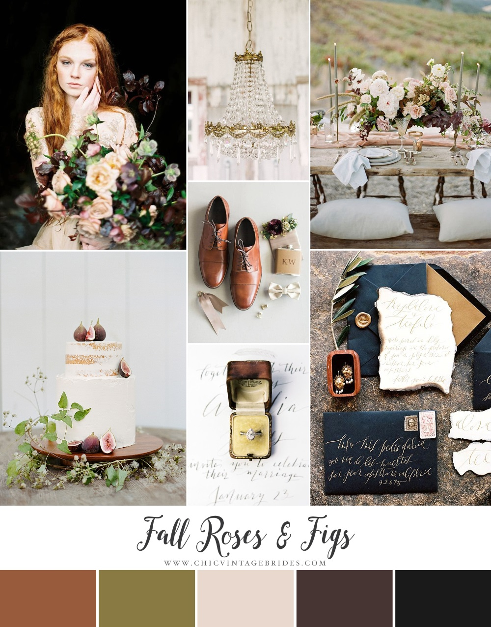 Fall Roses & Figs - Romantic Autumn Winery Wedding Inspiration