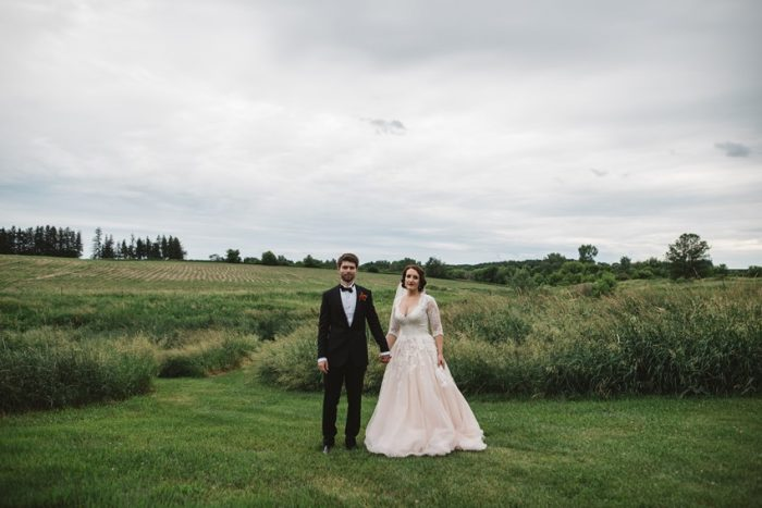 A Heartfelt 1950s Inspired Church Wedding