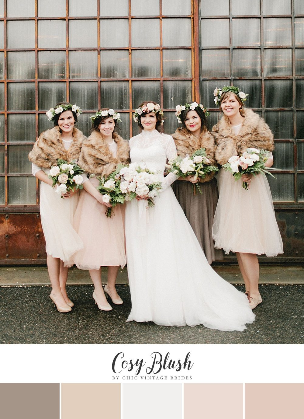 Cosy Blush Winter Wedding Color Palette