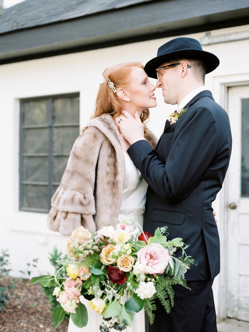 Fall Vintage Bride & Groom