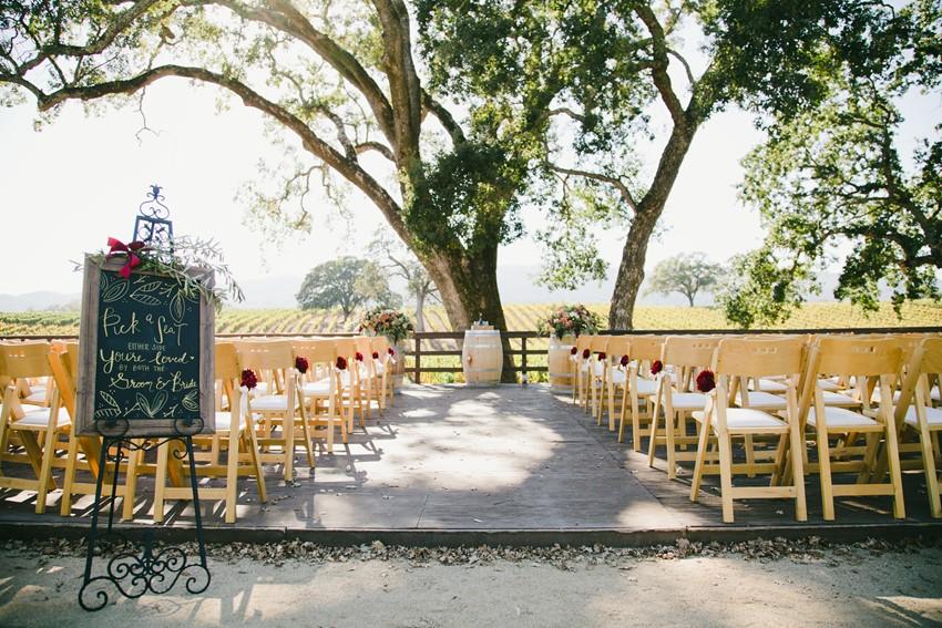 Outdoor Winery Wedding Ceremony