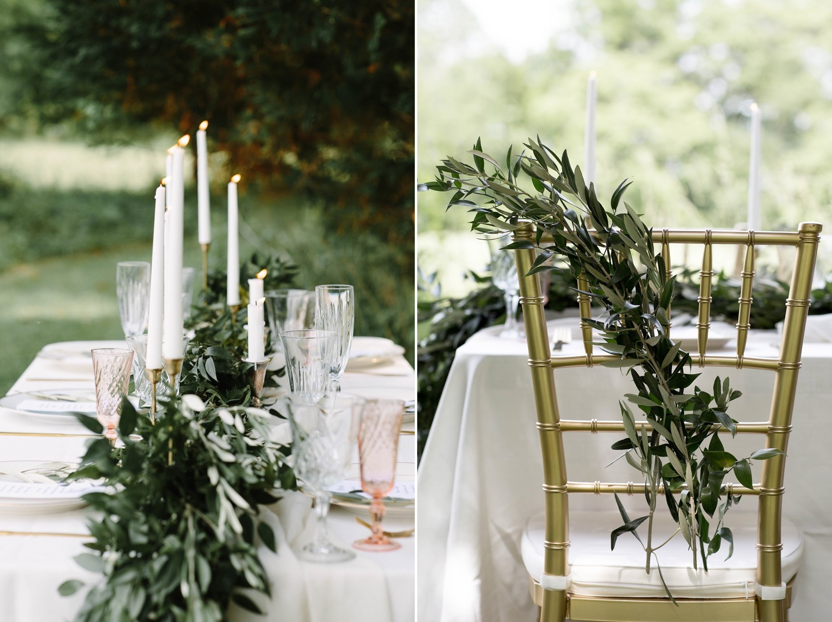 Olive Wedding Chair Decor