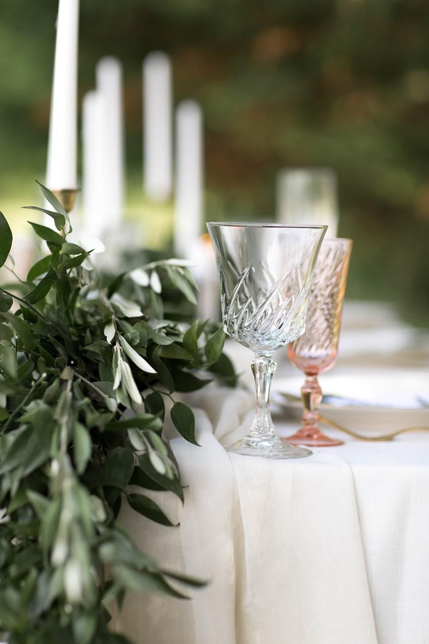 Blush Wedding Glass