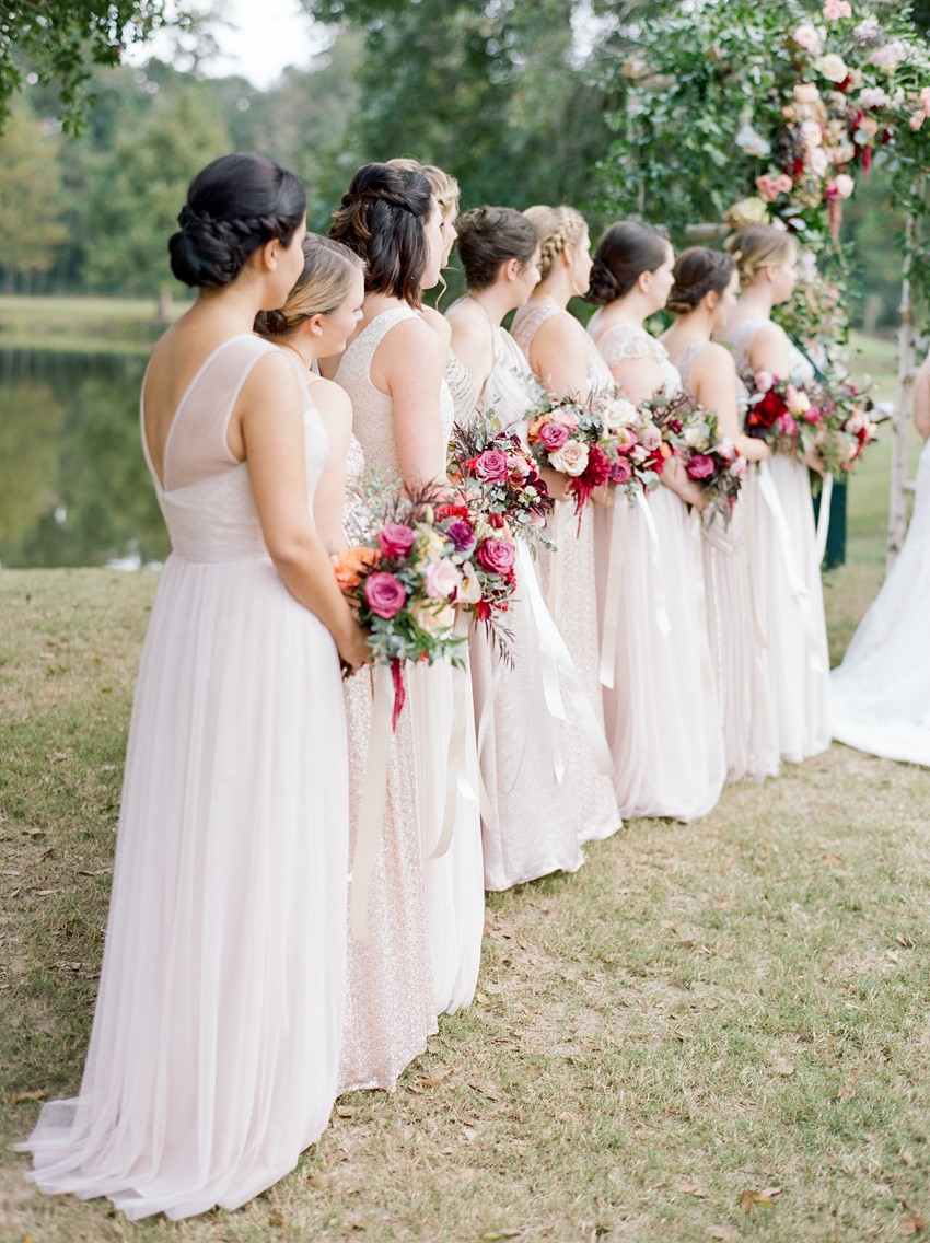 Palest Pink bridesmaid dresses