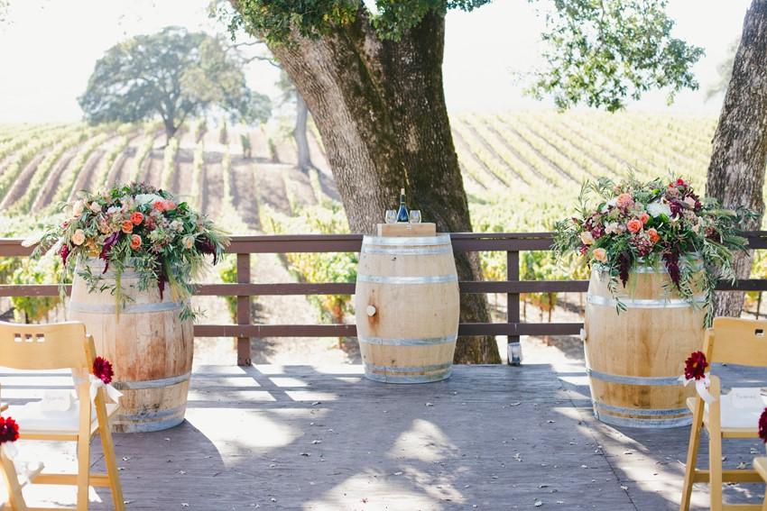 Winery Wedding Ceremony Decor