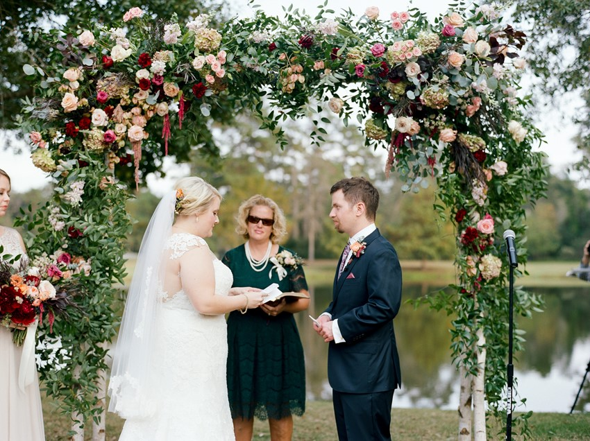 Romantic Golf Course Wedding Ceremony
