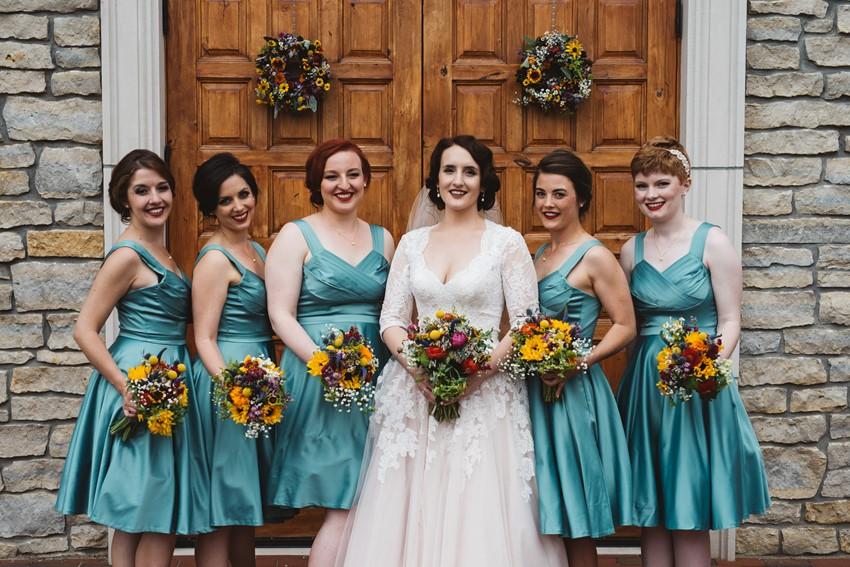 Vintage Bride & Bridesmaids