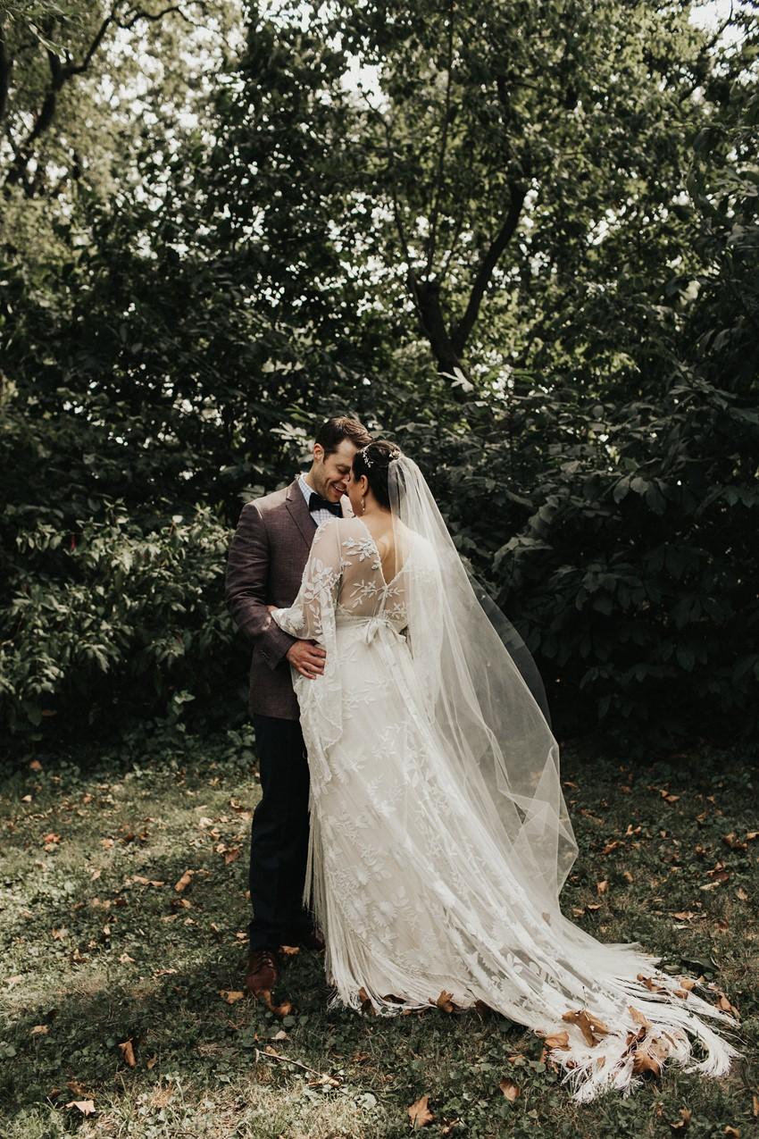 Romantic Garden Wedding Portraits