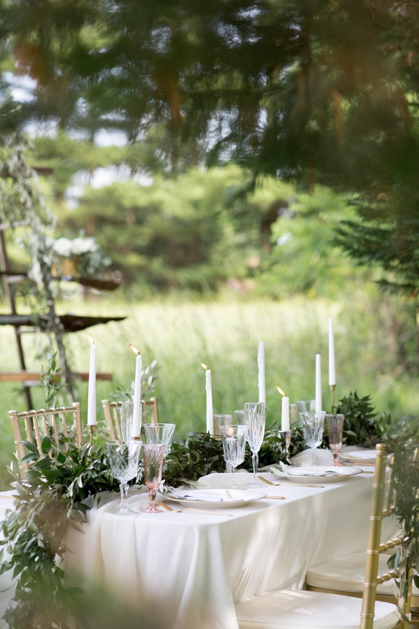 Sweet Outdoor Wedding Table
