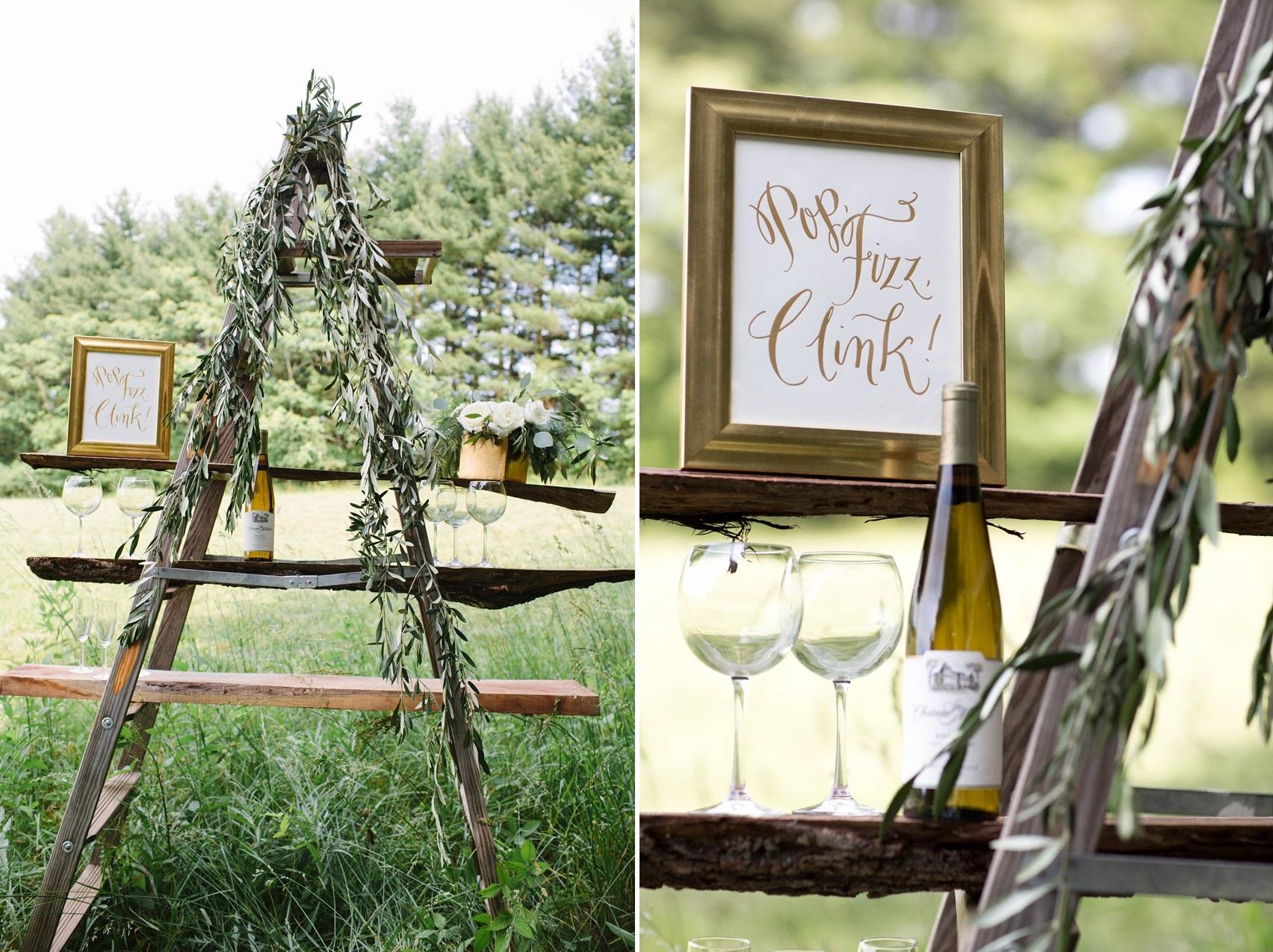 Rustic Outdoor Wedding Bar