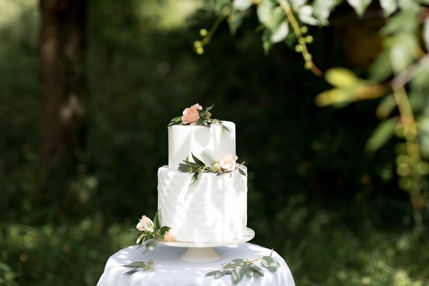 Textured Small White Wedding Cake