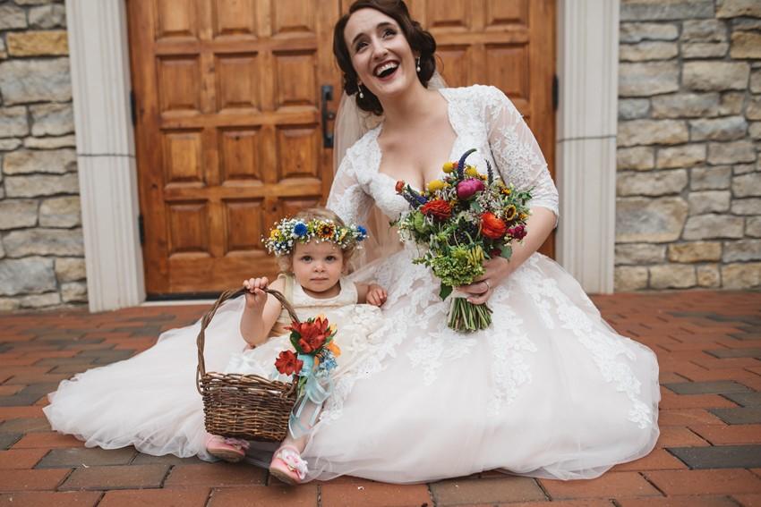 Vintage Bride & Flower Girl