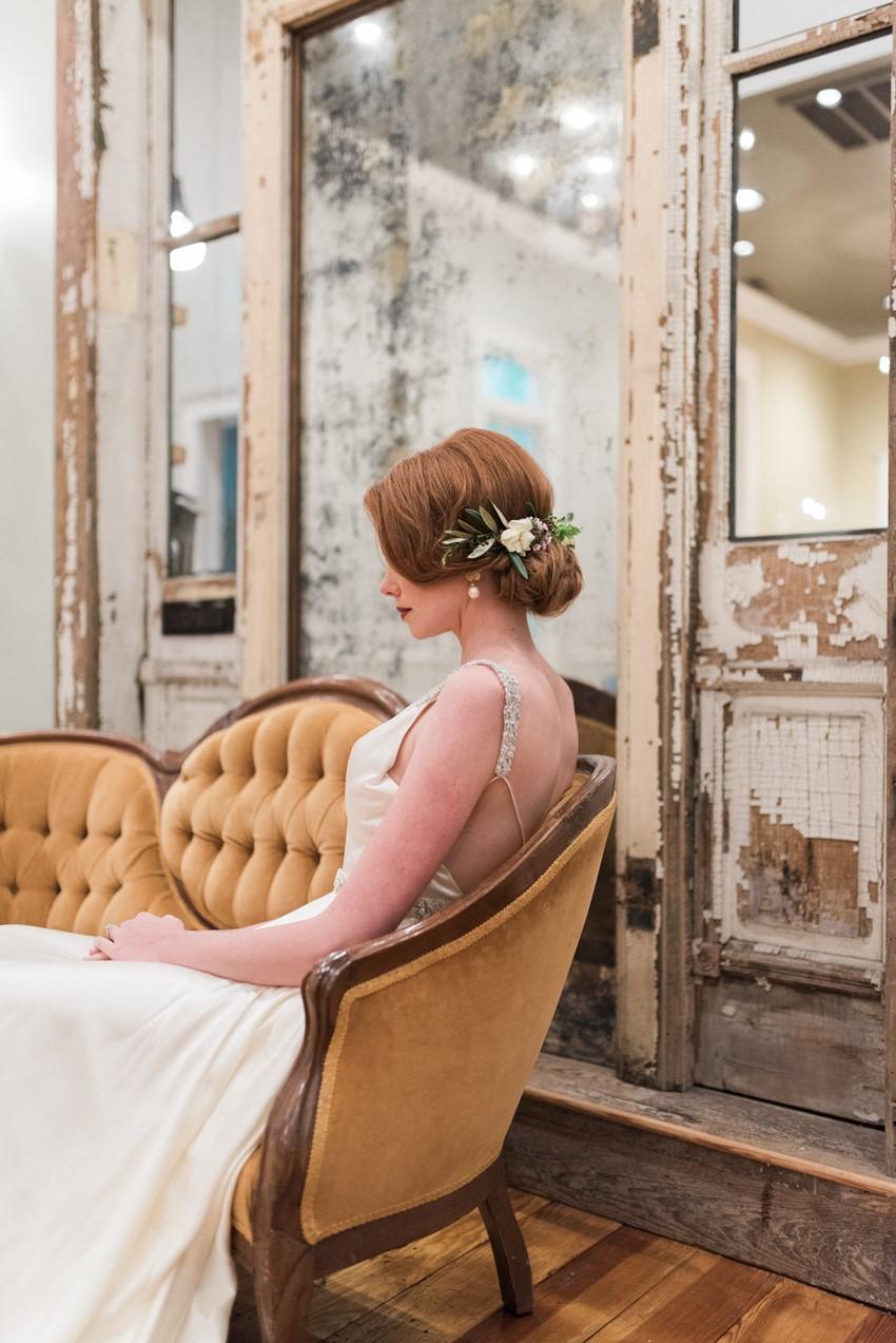 Vintage Floral Bridal Updo