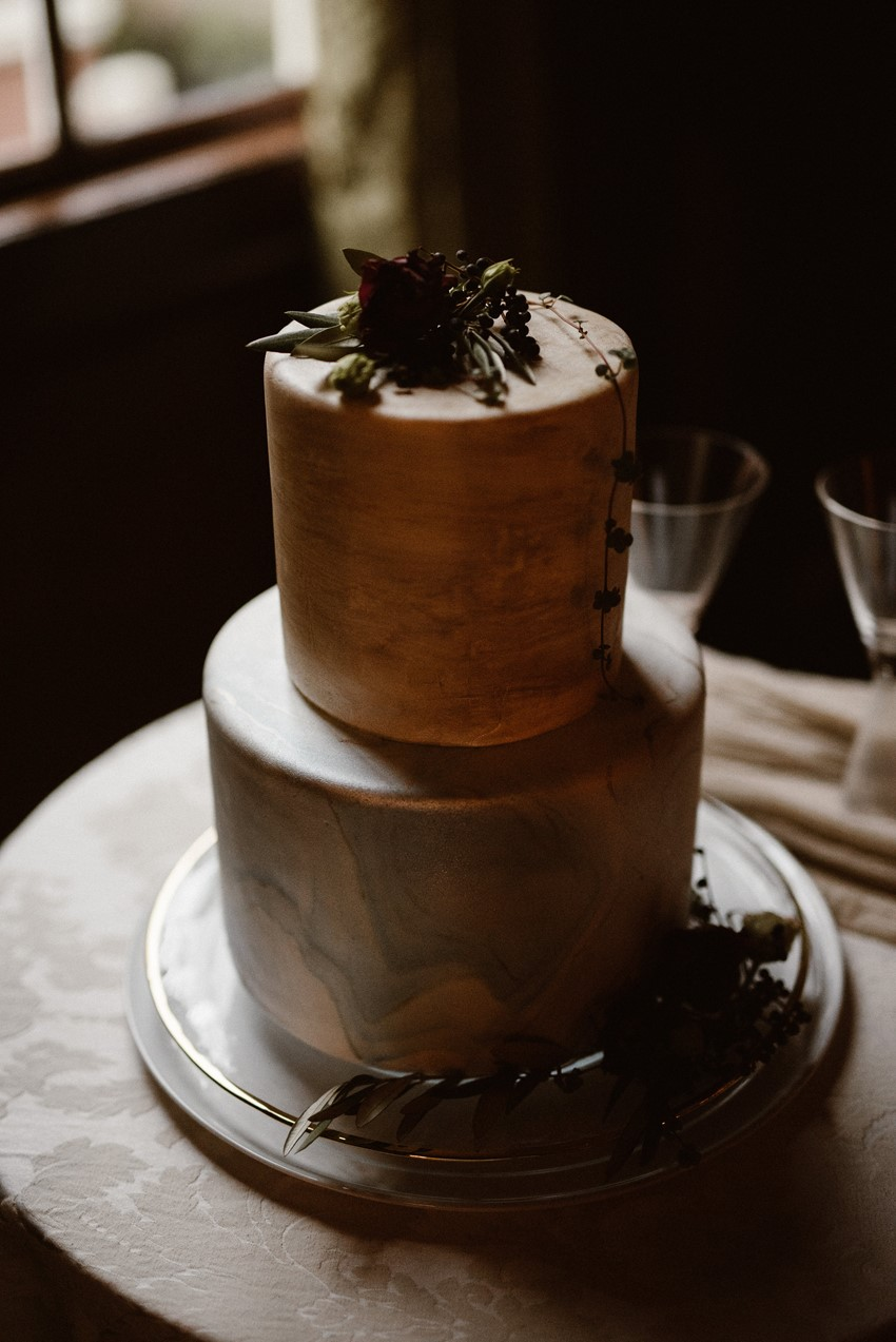 Elegant Marble Wedding Cake