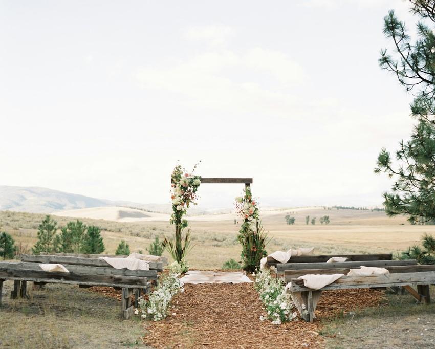 Ranch Wedding Ceremony Arch