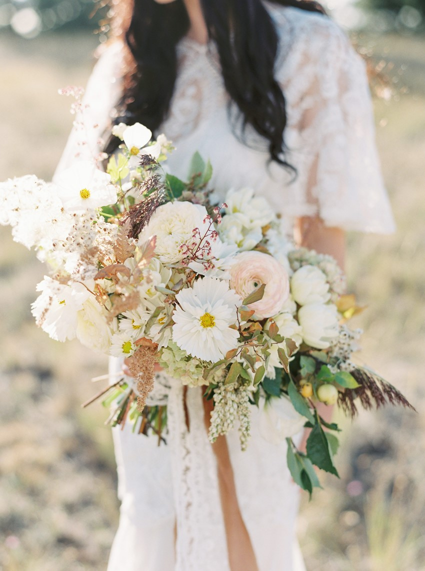 Blush & Pale Yellow Bridal Bouquet