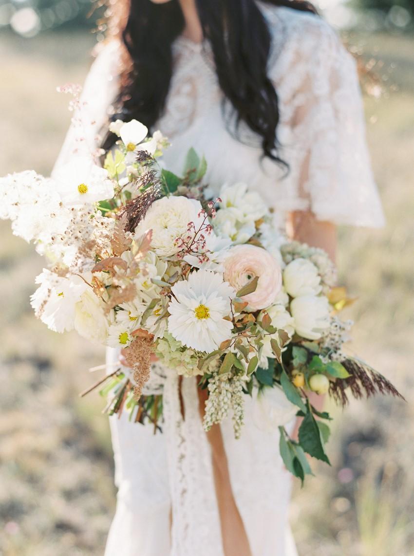 Blush & Pale Yellow Bridal Bouquet