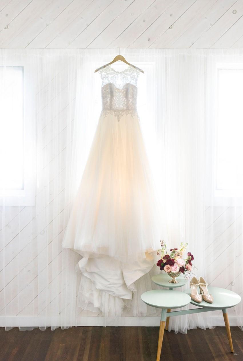 Romantic Illusion Neck Wedding Dress