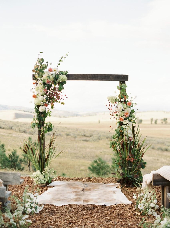 Ranch Wedding Floral Aisle Arch