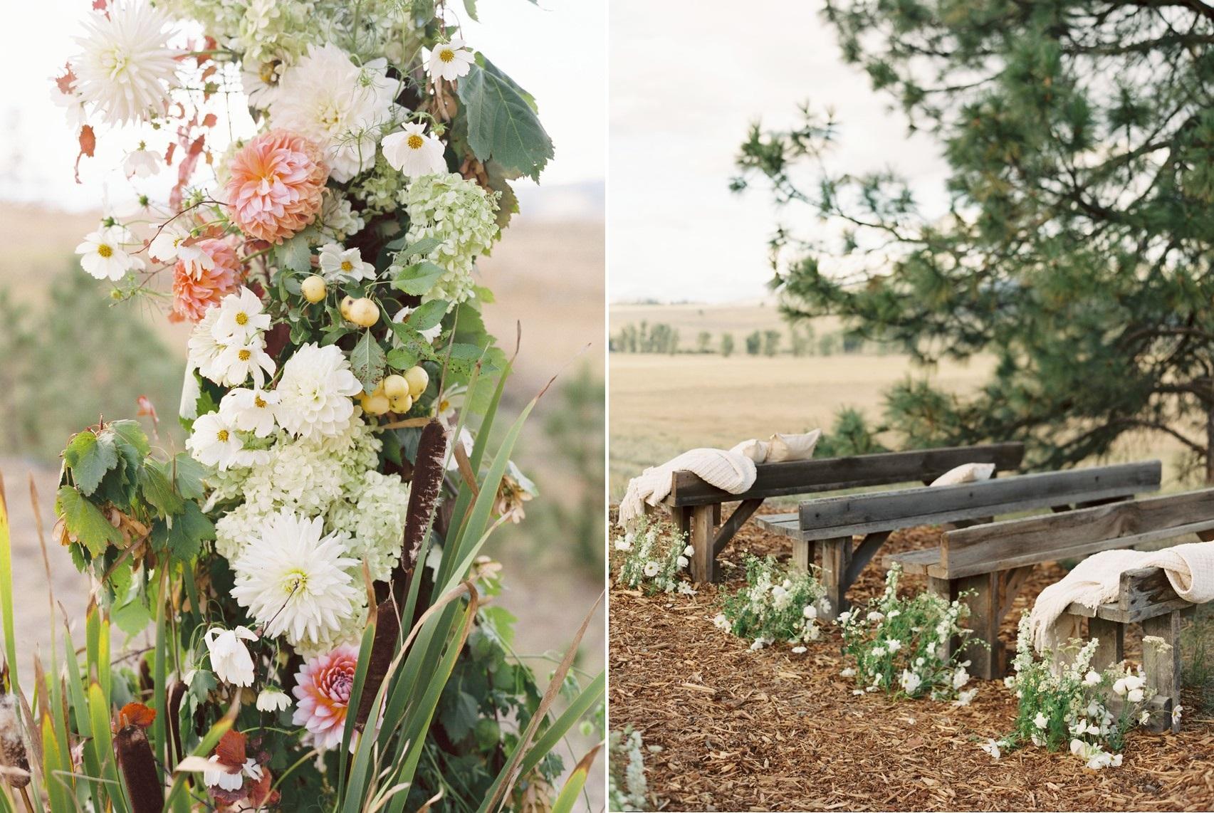 Ranch Wedding Ceremony Decor