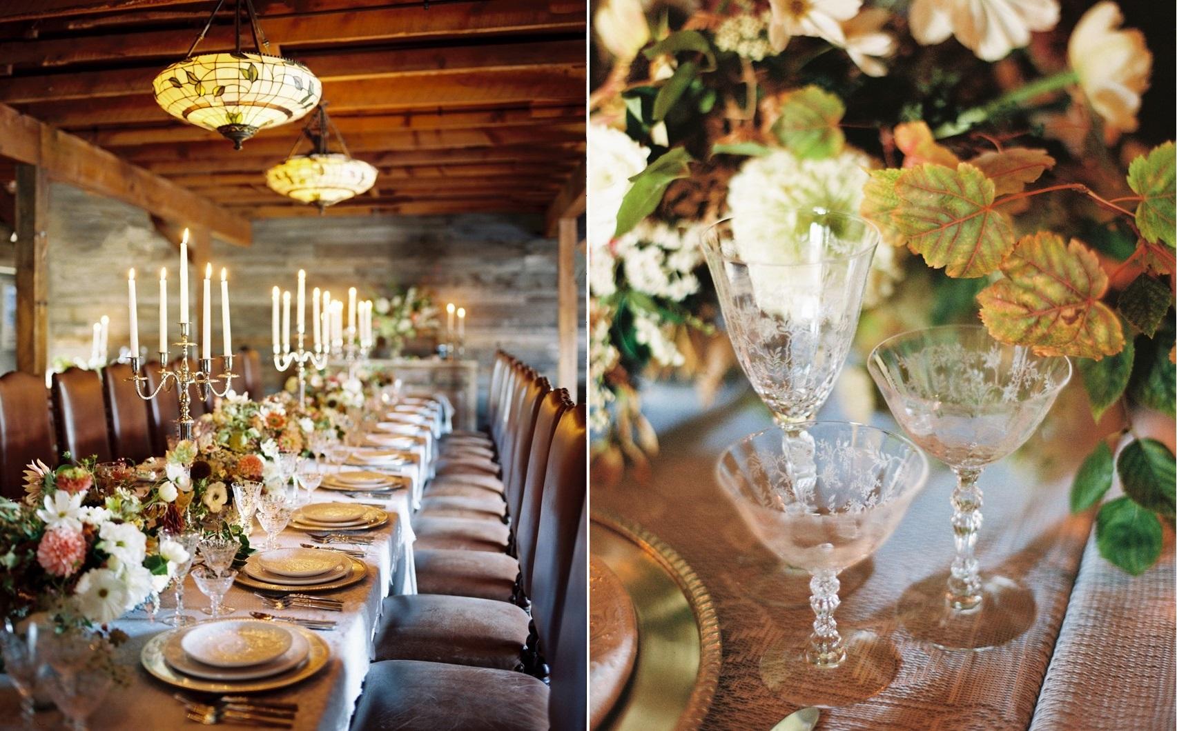 Romantic Ranch Wedding Reception