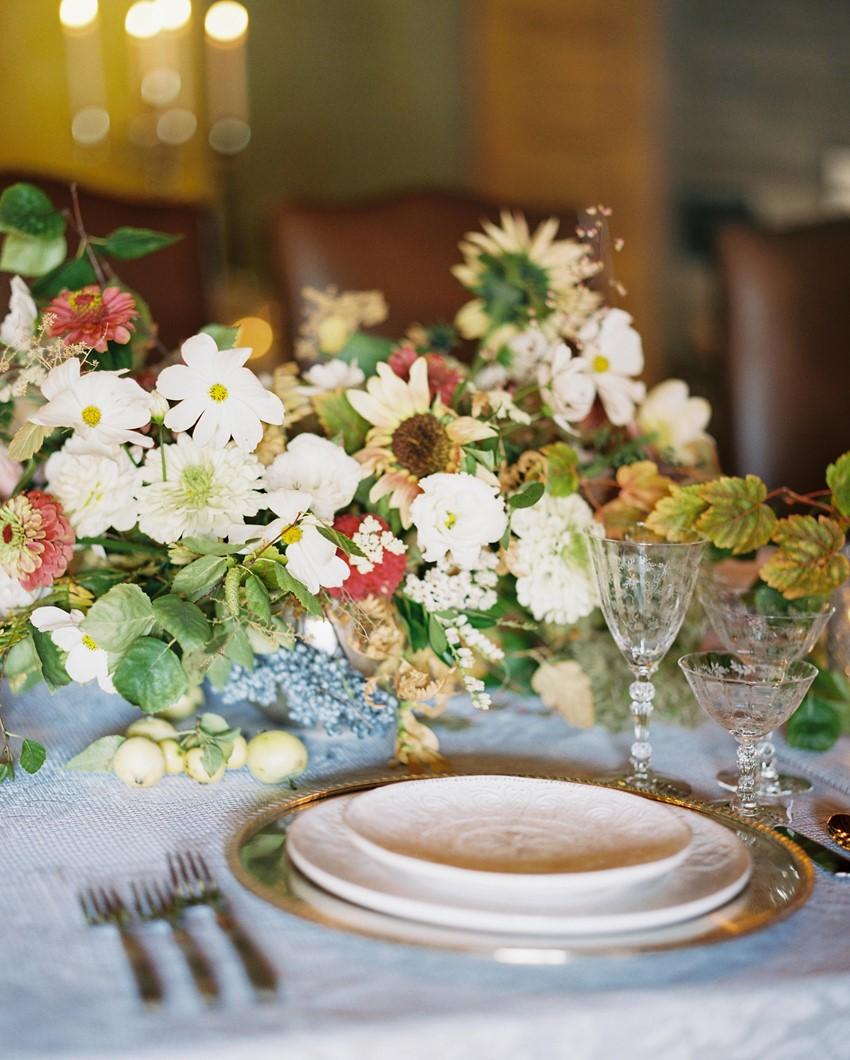 Romantic Blush Wedding Place Setting