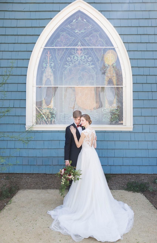 Art Nouveau Inspired Bride & Groom
