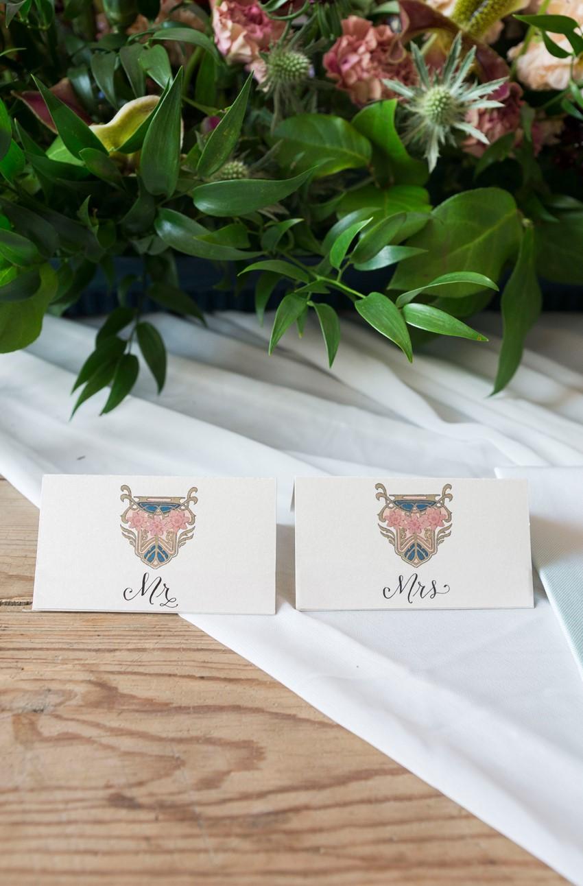 Edwardian Wedding Escort Cards
