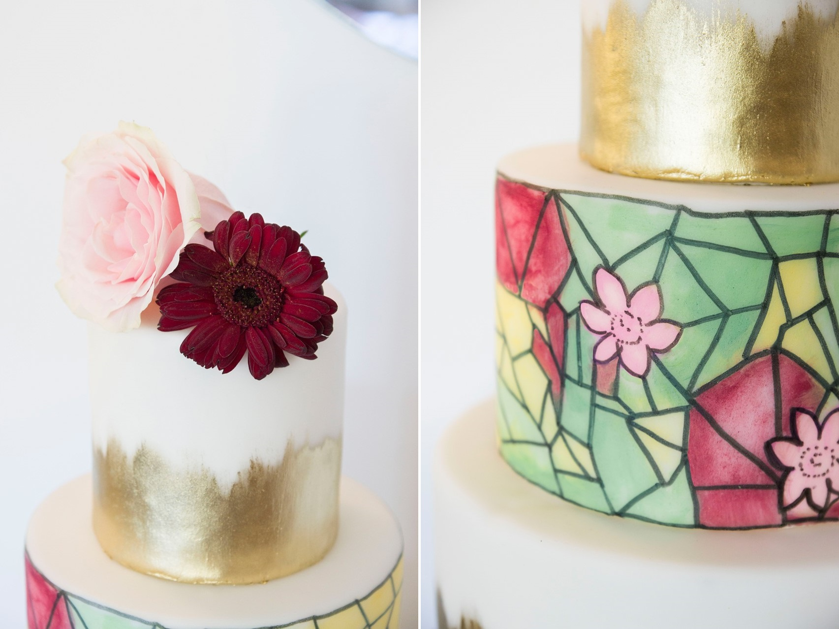 Art Nouveau Painted Wedding Cake