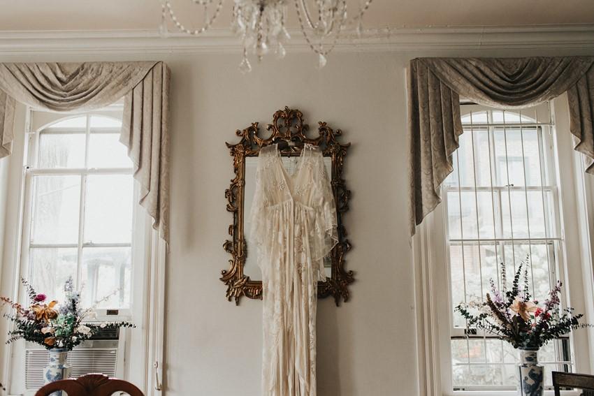Boho Vintage Wedding Dress Photo