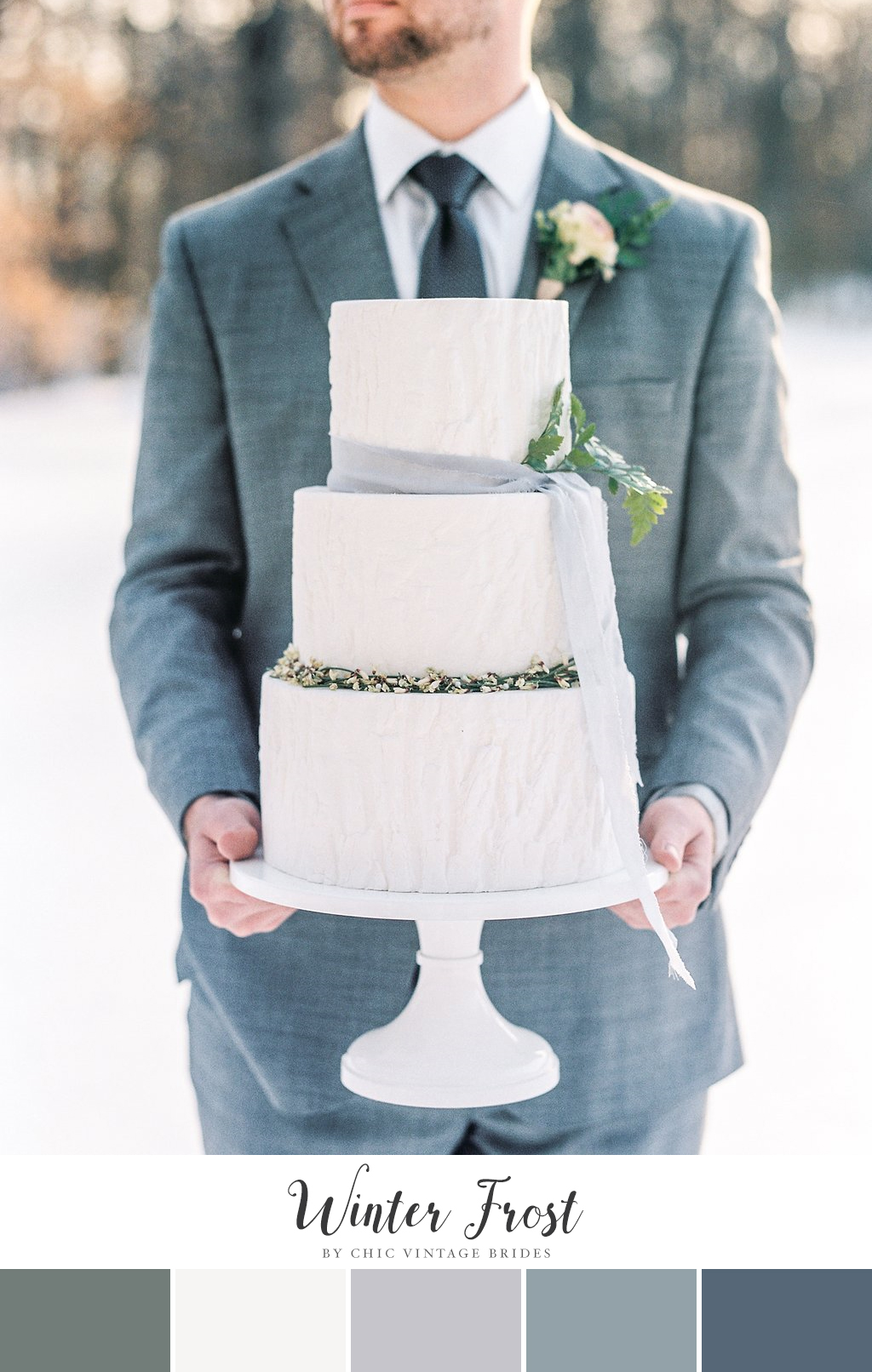 'Winter Frost' Winter Wedding Color Palette