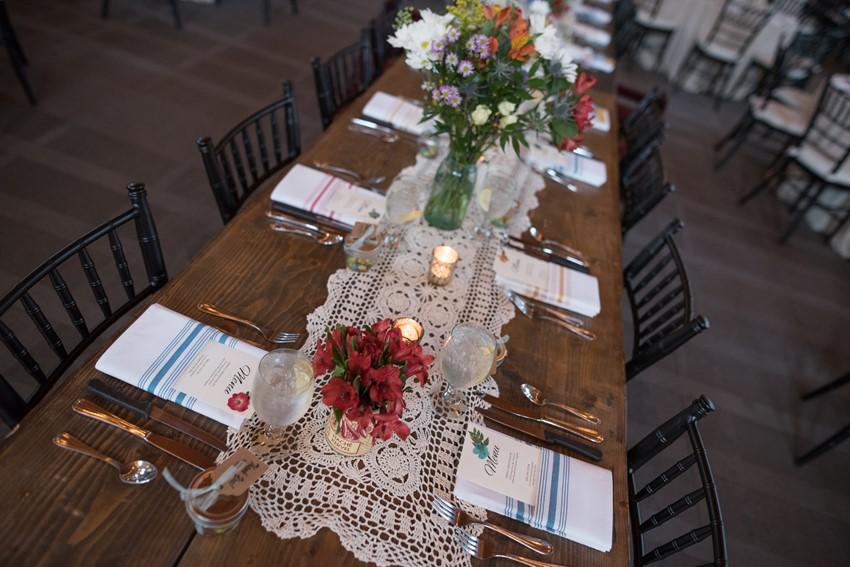 Vintage DIY Wedding Table