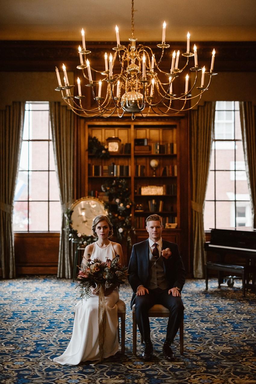 Elegant Winter Wedding Inspiration at Hampshire House